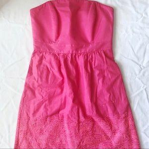 Strapless Hot Pink Vineyard Vines Dress Sz 2